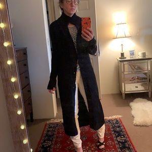 Free People Vintage Long Black Cardigan Sweater
